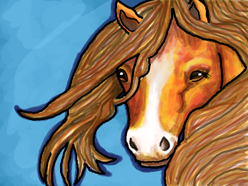 The Horse : Just a picture of a horse 스케치판 ,sketchpan