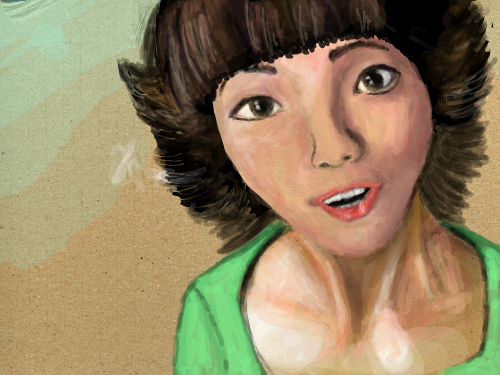 variation on the cute girl : just thought she was cute and wanted to add something to her 스케치판 ,sketchpan