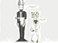 토끼 집사.. : 토끼 집사와 호랑이 아가씨 스케치판,sketchpan