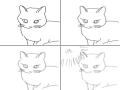 디지털풍화.. : 디지털풍화고양이 스케치판 ,sketchpan
