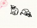 귀여운 양이의 모습 : 처음으로 스케치하니 우습네요! 스케치판 ,sketchpan