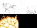 고등어잠수폭발 : 고등어가 잠수한뒤 폭발합니다지성이가했어요 스케치판 ,sketchpan