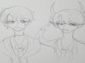 6학년즈음.. : 6학년즈음에짠 사탄과 사탄하고페어맺어서 학교쓰는 문제아된  유능한 엑소시스트의 아들(,..) 스케치판 ,sketchpan