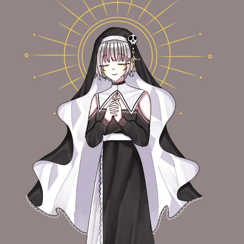 오리지널 .. : 오리지널 자캐 수녀로 위장한 악마자캐 스케치판 ,sketchpan