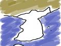 지도를 보.. : 지도를 보고 두번정도 그리니까 이젠 금방 그려짐..ㅋ 스케치판 ,sketchpan