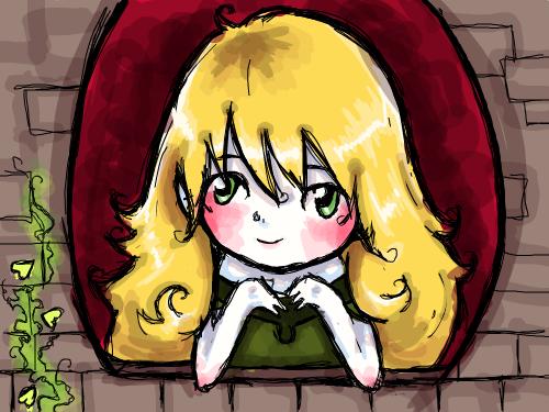 Princess : Chibi, very pale princess 스케치판 ,sketchpan