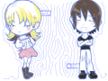 Drawing : Two random figures; boy and girl 스케치판 ,sketchpan
