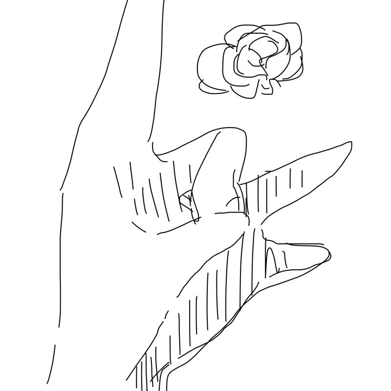 학교 미술.. : 학교 미술시간에 원터치로 손그리래서 이거 그렸엇ㅅ음 스케치판 ,sketchpan