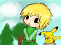 Why are you so tall : toon link, why are you so short? hm? 스케치판 ,sketchpan