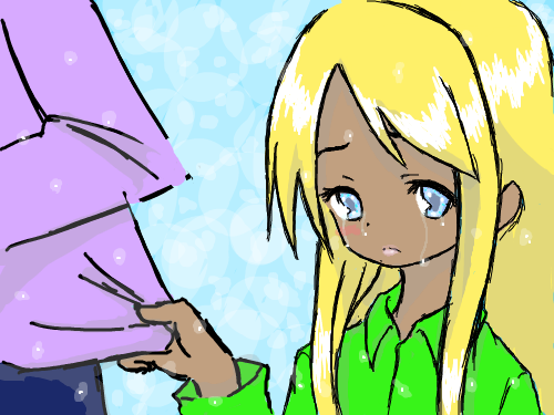 AwSad : Woot I colored it ... she is crying... dang it now I'm sad. 스케치판 ,sketchpan
