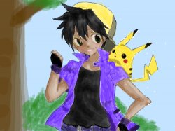 Pokemon Trainer : just like it says. I colored it and added a back ground. , 스케치판,sketchpan,NexRemeo