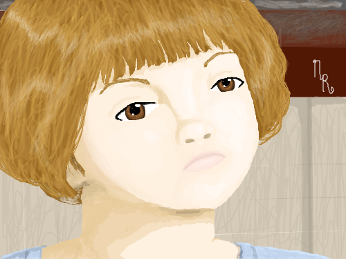 Chy : my sister when she was little. 스케치판 ,sketchpan