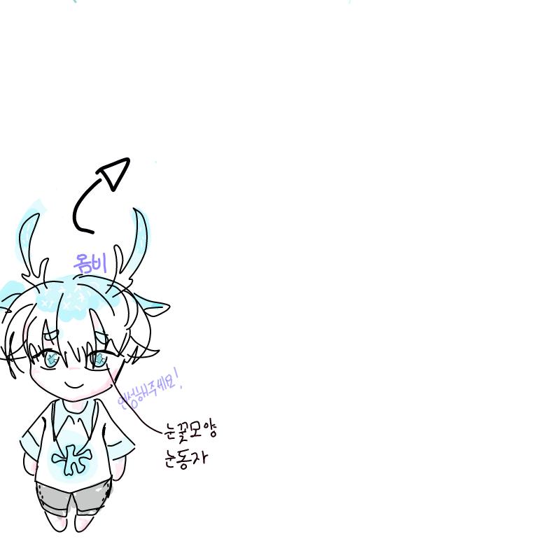 눈꽃사슴 .. : 눈꽃사슴 옴비에욤..  많이 연성해주세요! 스케치판 ,sketchpan