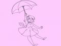 소녀 그림 : 소녀 그림 스케치판 ,sketchpan