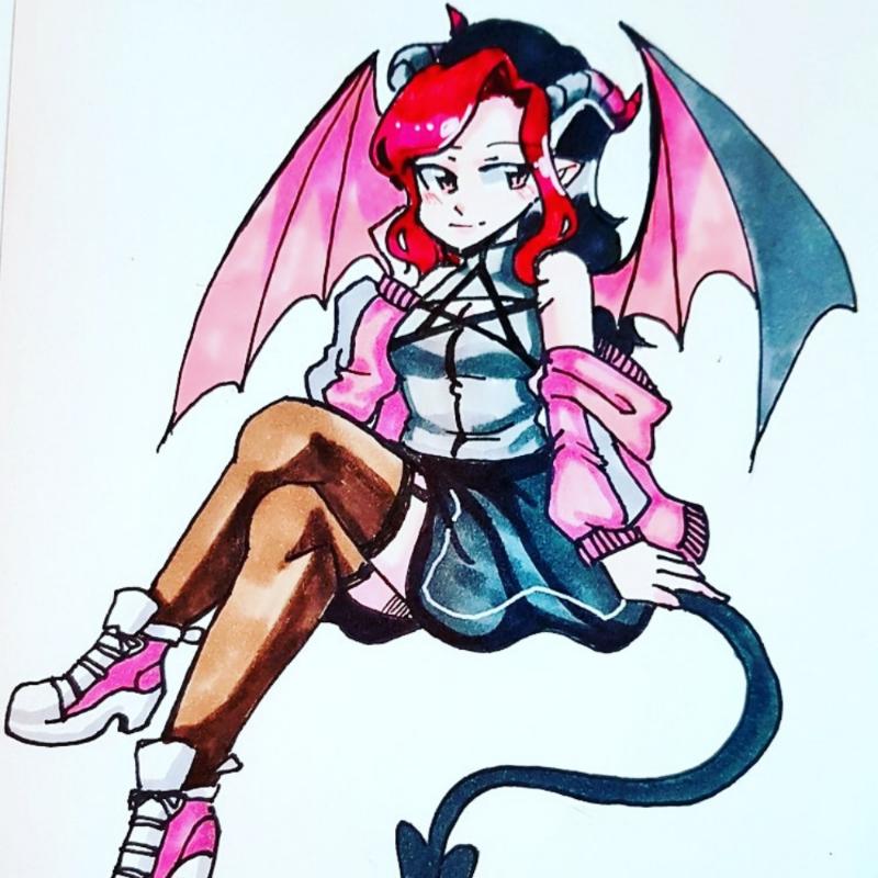 악마그림.. : 악마그림쟁 스케치판 ,sketchpan