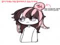 머리로만 .. : 머리로만 생각하려다가 쓱쓱 그린 캐릭터!  문어다리랑 머리카락을  자연스럽게 엮고싶었는데... 스케치판 ,sketchpan