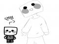 윤오쥥(멍.. : 윤오쥥(멍청한놈) 님 께서 해주신 오랜만의 연성! 귀여버요♥ 스케치판 ,sketchpan