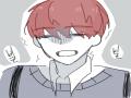 내 단짝이 .. : 내 단짝이 독감때문에 일주일동안 학교에 못나오다가 오늘 드디어 나왔는데 얼굴이 파란데 괜찮다는거예요..; 기절시켜서 보건실로보냈음ㅋㅋ 스케치판 ,sketchpan