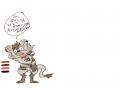 [오너캐]하.. : [오너캐]하이에나헤르네오드 집사입니다 무래..한부탁이지만... 스케치판 ,sketchpan