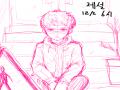 월화수목금.. : 월화수목금토일 다시아침 스케치판 ,sketchpan