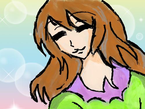 샤방소녀 : 웃으며 다니는 샤방 소녀... 스케치판 ,sketchpan