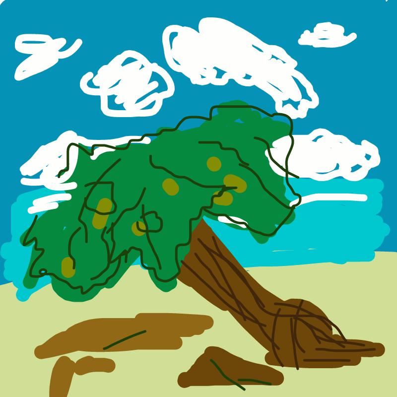 바다에 나.. : 바다에 나무 스케치판 ,sketchpan