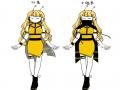 마법소녀 .. : 마법소녀 꿀벌님! 스케치판 ,sketchpan