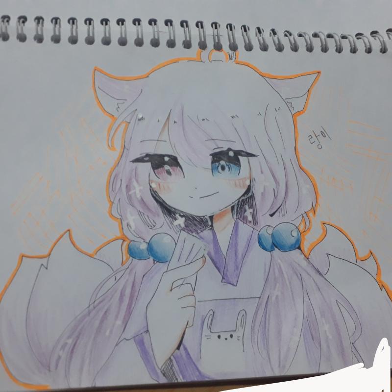친구캐 넘.. : 친구캐 넘이뻐서 끄적 스케치판 ,sketchpan
