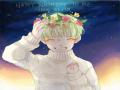 좋아하는 .. : 좋아하는 별과 밤하늘을 배경삼고 좋아하는 꽃을 머리에 쓰고 좋아하는 머리색으로 염색하고 어울리지않는 조합이지만 이 그림을  세상에서 가장 사랑하는 나에게.  +자꾸 튕겨서 캡한거 올리네요.. 생일선물로 튕김주셨어ㅠ 스케치판,sketchpan