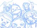 둘리일행 (미완) : 둘리일행 스케치판 ,sketchpan