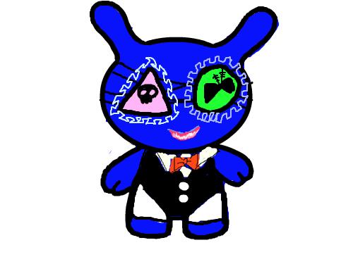 토끼 : 남색토끼 스케치판 ,sketchpan