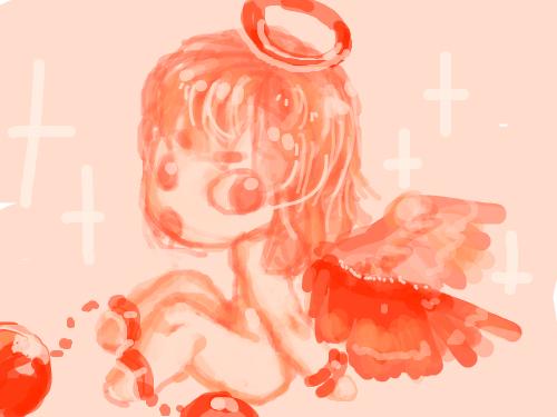 천사 : 라라라라라라라 스케치판 ,sketchpan