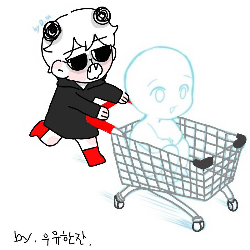 제 카트에 .. : 제 카트에 탈분 구해요♡ 스케치판 ,sketchpan