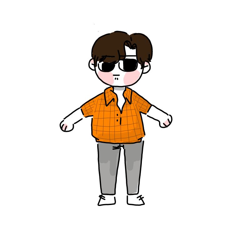 소년. : 소년. 스케치판 ,sketchpan