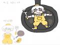 후라이팬에.. : 후라이팬에 올려보고싶어서,, 스케치판 ,sketchpan