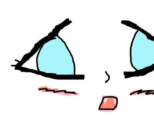 소녀 : 소녀의표정 'ㅅ' 스케치판 ,sketchpan