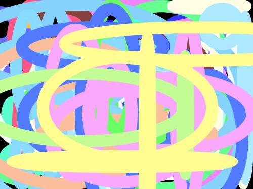 무지개 원 : 여러 색깔의 다양한 원 조합!! 스케치판 ,sketchpan