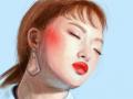 도톰한 입술 : 맑은레드가 넘 예쁘다 스케치판 ,sketchpan