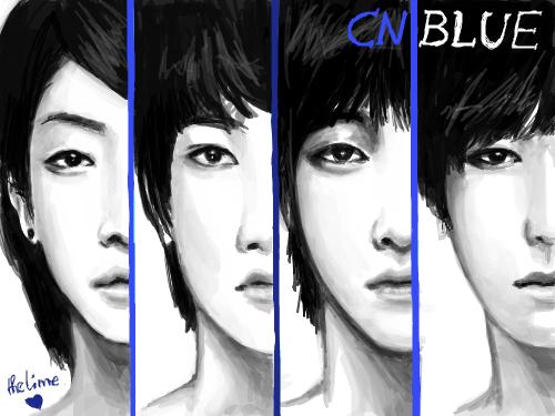 CN Blue : ^^' 스케치판 ,sketchpan
