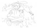의식의 흐.. : 의식의 흐름... 스케치판 ,sketchpan