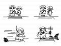 교통사고 : 신호를 지킵시다 스케치판 ,sketchpan