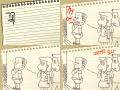 방귀1 : 길거리에서 막 트름하고 방귀 뀌어대는 추잡스런 아자씨 나이먹고 저렇게 되지 말자 스케치판 ,sketchpan