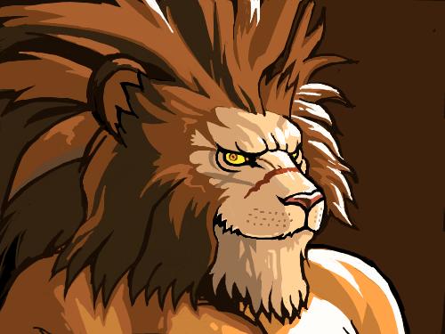 라이온 : 사자 채색된 것 애니로 그려보기 스케치판 ,sketchpan