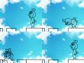 점프2 : 변태아저씨가 블럭을 건너고 있네요 스케치판 ,sketchpan
