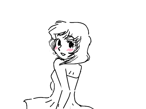 빙글빙글소녀 : 상큼발랑빙글도는소녀 스케치판 ,sketchpan