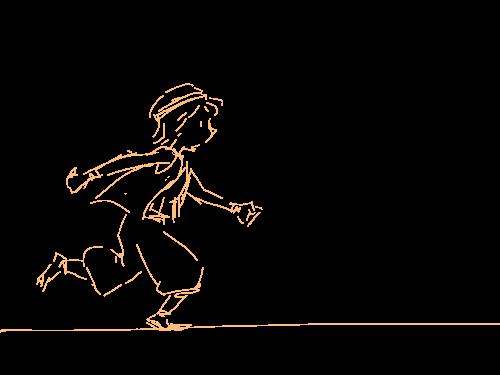 뛰기 : 한쪽다리가 불편한 소년이로군요ㅋㅋ 스케치판 ,sketchpan