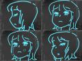 우는소녀 : 우는소녀우는소녀 스케치판 ,sketchpan
