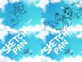 오~스케치판 : 구름을 보면서 하늘에서 떨어져 내리는 소녀 스케치판 ,sketchpan
