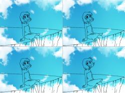 살랑살랑 : 봄바람에 기분이 너무 좋아요^^ , 스케치판,sketchpan,스케치판