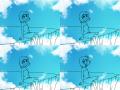 살랑살랑 : 봄바람에 기분이 너무 좋아요^^ 스케치판 ,sketchpan